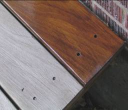 grayed unstained stained deck