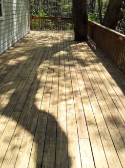 how to clean your wood deck