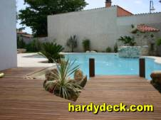 hardwood decking project