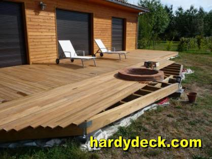 Small residential ipe decking project for Decking framework timber