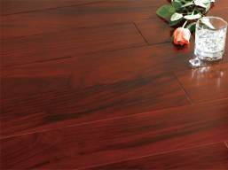 dark stained indoor tigerwood flooring