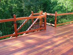 installed tigerwood deck